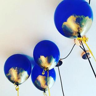 Vergoldete Ballons - richtig viele Dekor
