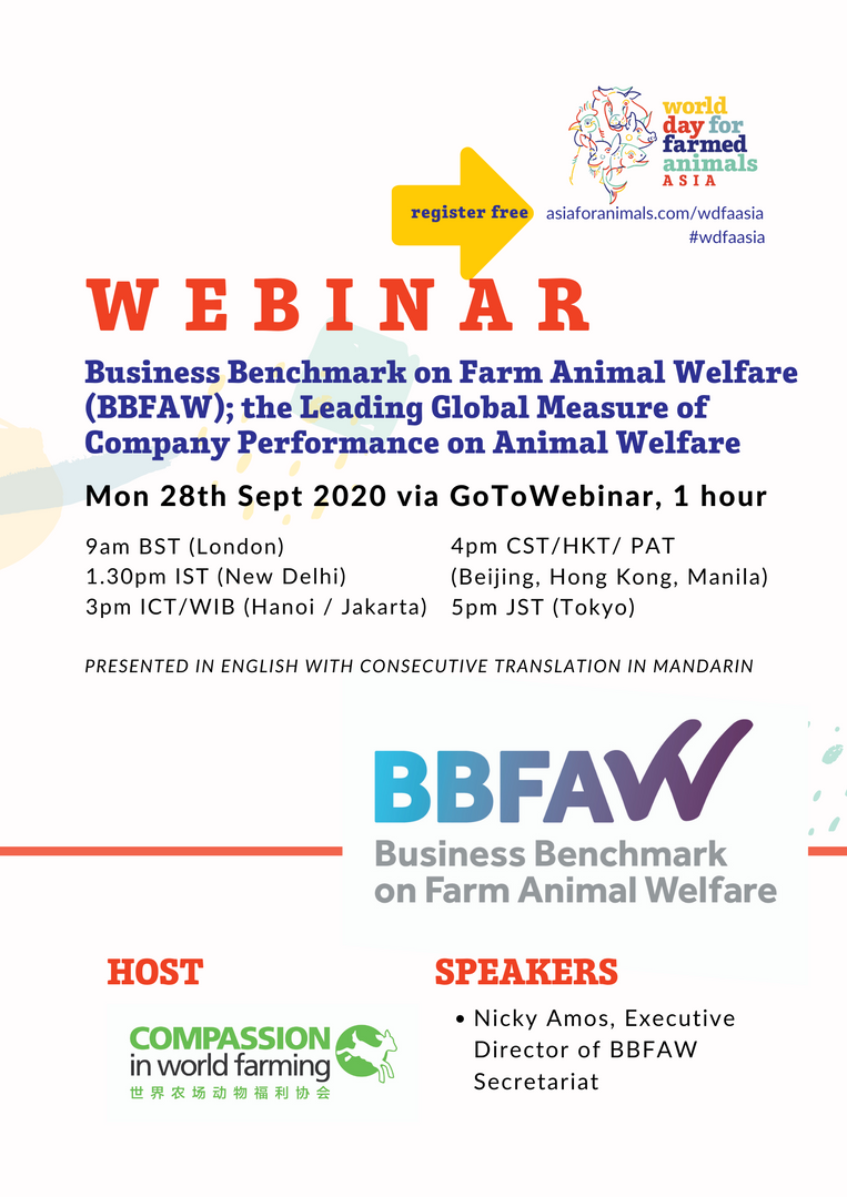 Business Benchmark on Farm Animal Welfare (BBFAW); the Leading Global Measure of Company Performance on Animal Welfare
