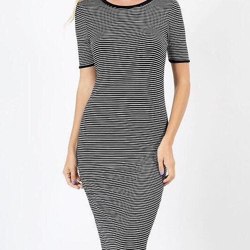 Striped Bodycon