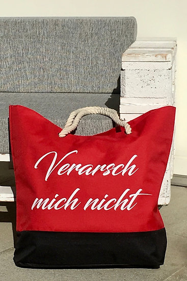 """Tasche """"Verarsch mich nicht"""" / Rot"""