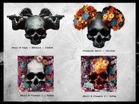 combo skull stickers