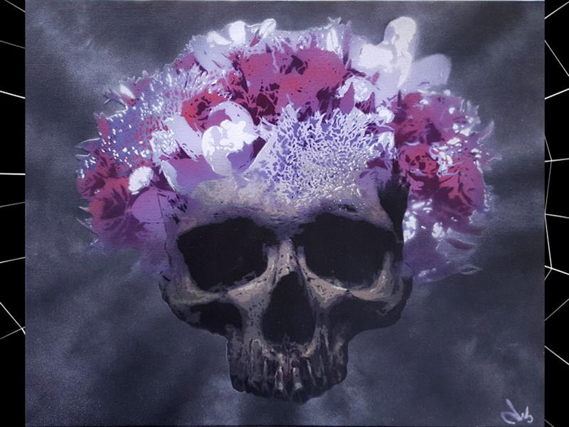 skull flower crown by docteur bergman.jp