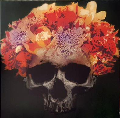 yellow flower skull
