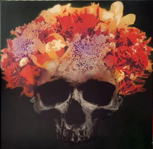 yellow flower skull
