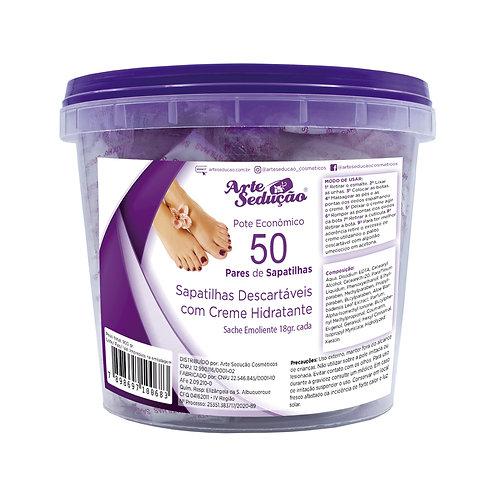 Sapatilhas C/ Creme Emoliente Manicure Arte Sedução 50 Pares
