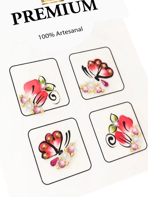 Kit 100 Adesivos de Unhas Arte Sedução PREMIUM