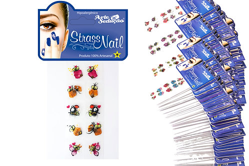 Kit 2.000 Adesivos para Unhas Strass Nail, 100% Artesanal