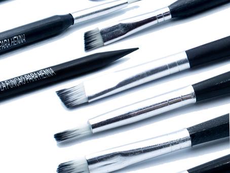 Função de cada pincel (parte 2): Aplicação de Henna nas sobrancelhas