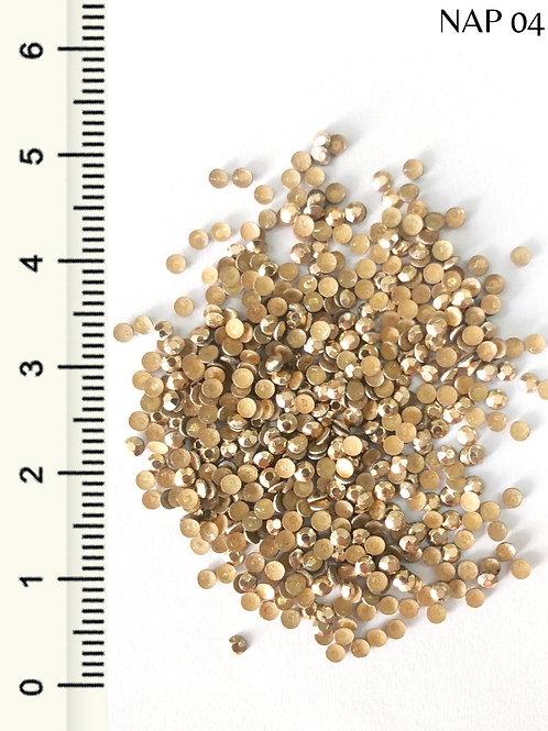 Pedraria Taxinha Sextavado Dourado 2 mm, Arte Sedução, 1g