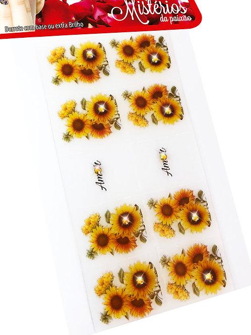 Kit 100 Películas de Gel para Unhas Mistérios, Arte Sedução