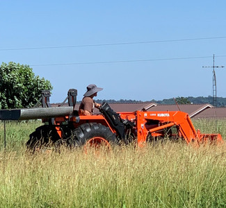 Happiness Cutting Hay
