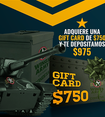 GIFT CARD WING'S ARMY CONDESA