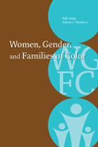 Thumbnail image of cover of Journal of Women, Gender and Families of Color