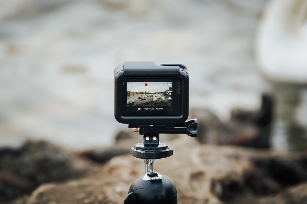video camera on