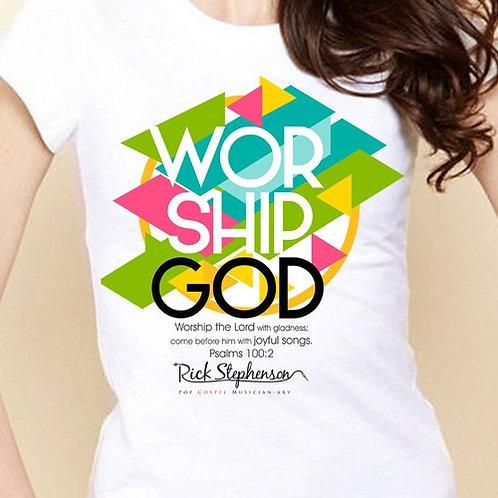 T-Shirt - Worship God - Abstract