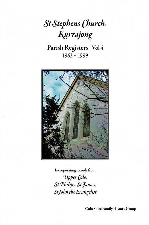 St Stephens Church Kurrajong Parish Registers Vol. 4 1962-1999