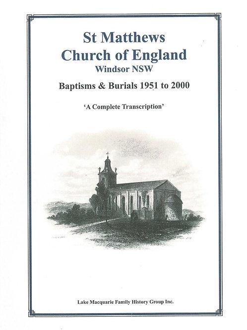 St. Matthews Church of England Baptisms/Burials 1951-2000 Volume 4 Part 2