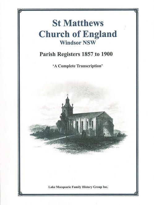 St Matthew Church of England Windsor Parish Registers 1857-1900 Volume 2