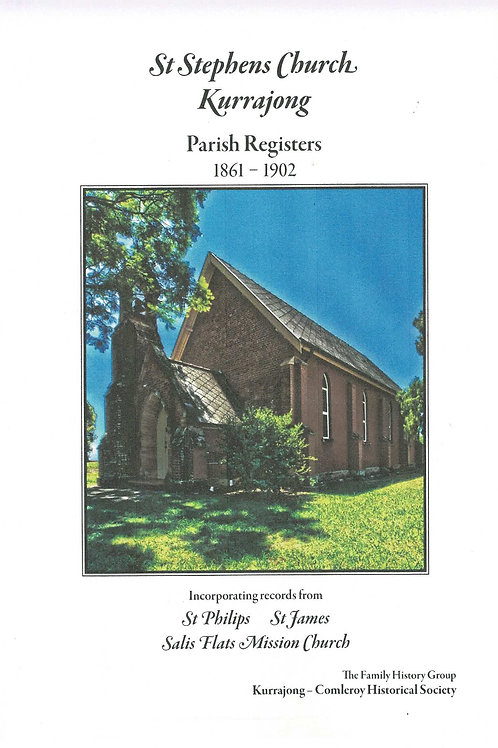 St. Stephens Church Parish Register Vol. 1 1861-1902 by Kurrajong-Comleroy F/H