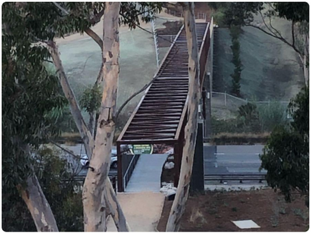 La Cienega Walking/Bike Bridge Now Open!