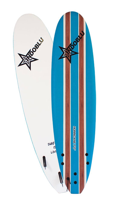 Soft Top Surfboard - Hurricane 7'0 - Sky Blue