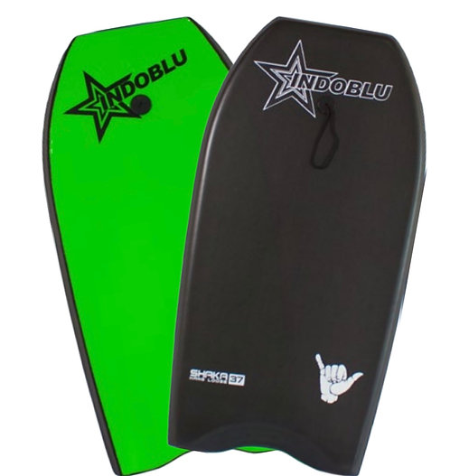 "Sharka EPS Core Body Board 37"" - Matt Black / Green"