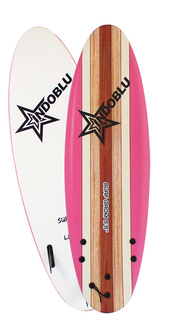 Soft Top Surfboard - Surf Grom 5'5 - Pink