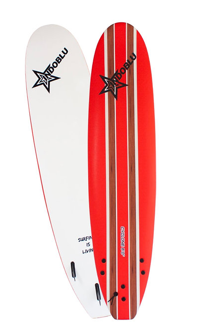 Soft Top Surfboard - Cyclone 8'0 -Red