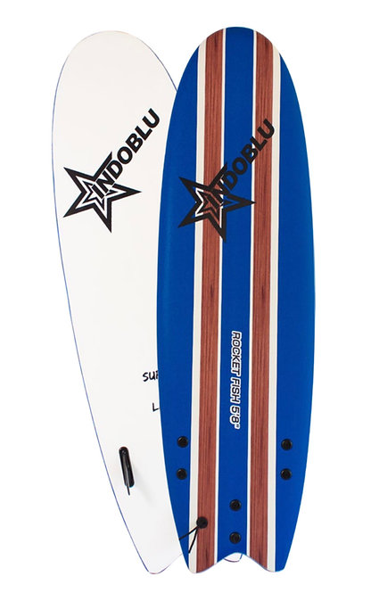 Soft Top Surfboard - Rocket Fish 5'8 - Dark Blue