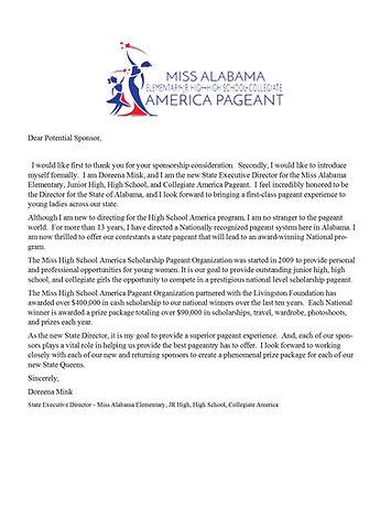 State Sponsor Letter