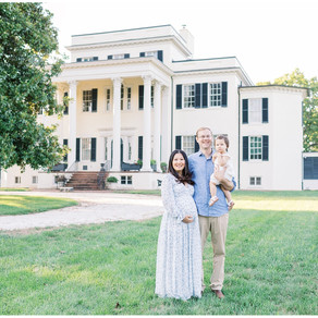 Historic House and Gardens Maternity Session | Northern Virginia Maternity Photographer