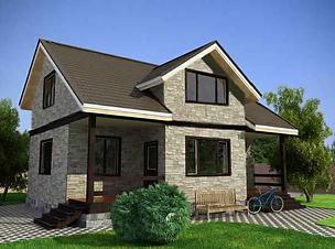 проект дома из газобетона 2 этажа