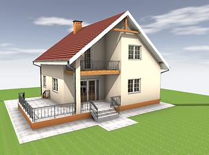 Проект дома из арболита 2 этажа