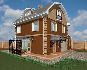 проект дома с гаражом 3 этажа 227 м