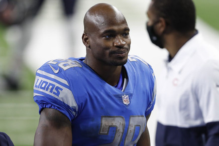 Lions RB Adrian Peterson
