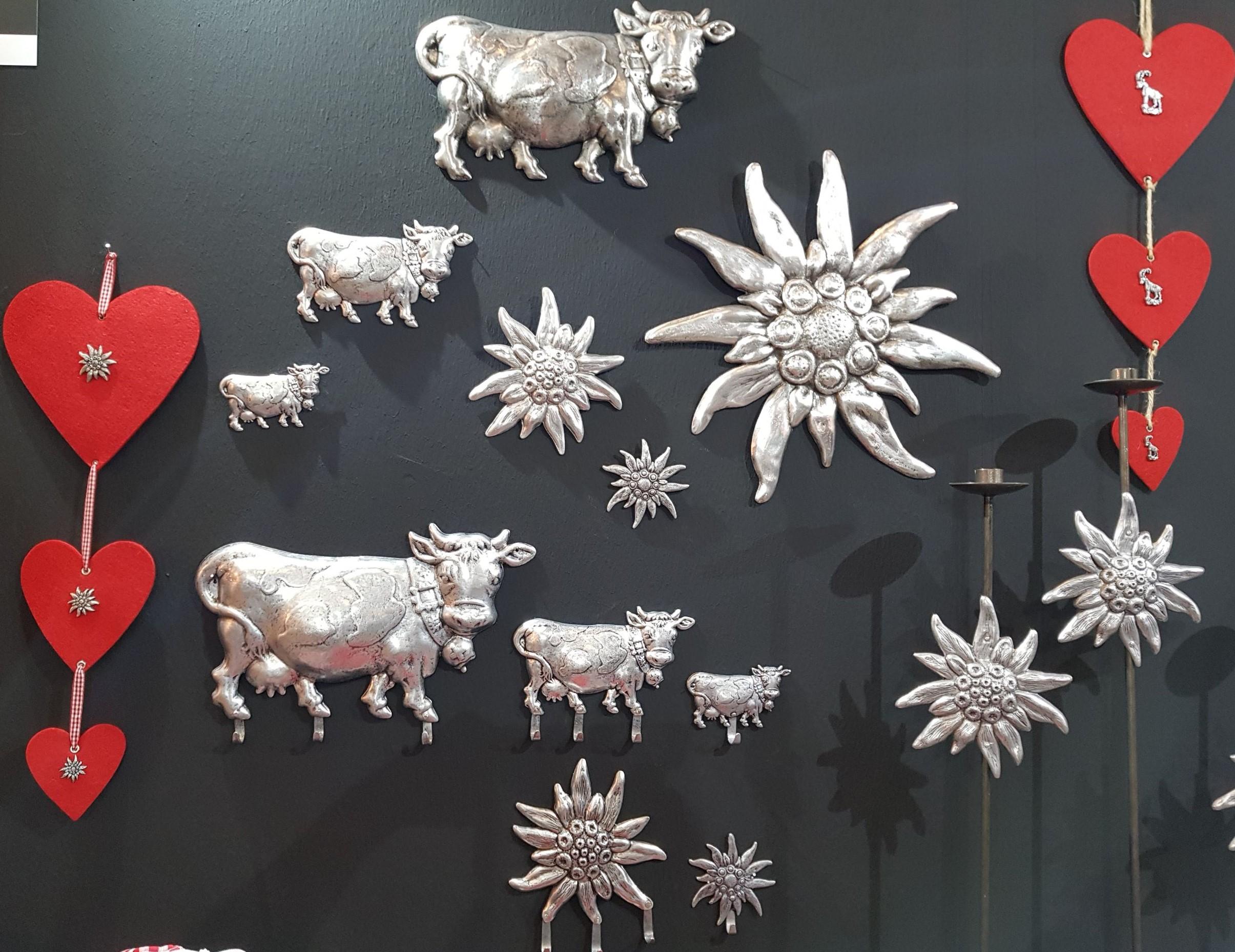 Wanddekor aus Aluminium