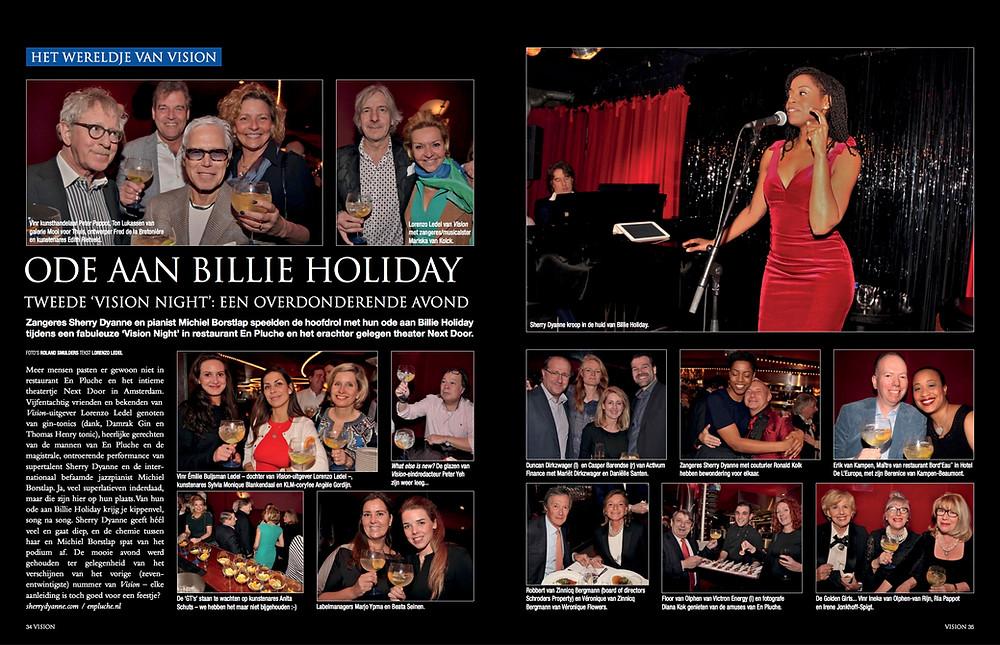 Ode aan billie holiday tweede 'vision night': een overdonderende avond Zangeres Sherry Dyanne en pianist Michiel Borstlap
