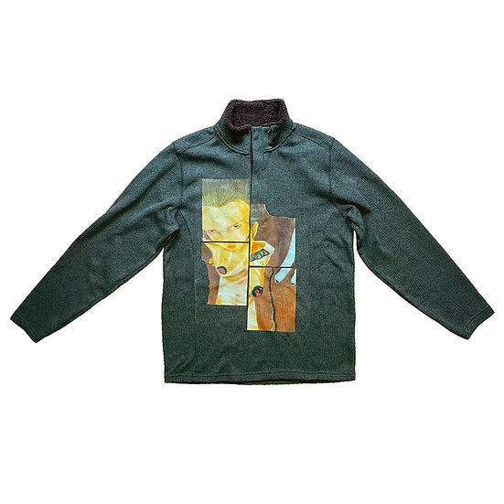 Torn Quarter-Zip Sweater