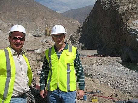 DRB and Paul Beller at El Platanal 2008.
