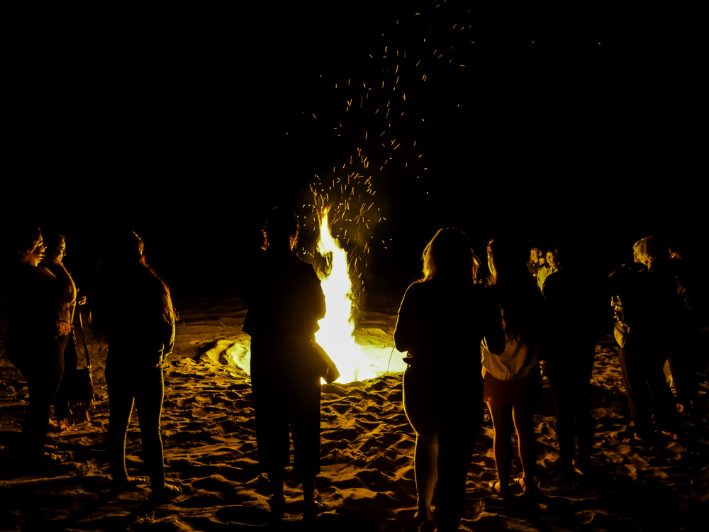 Beach Burning Ceremony