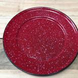 plato rojo salpicado