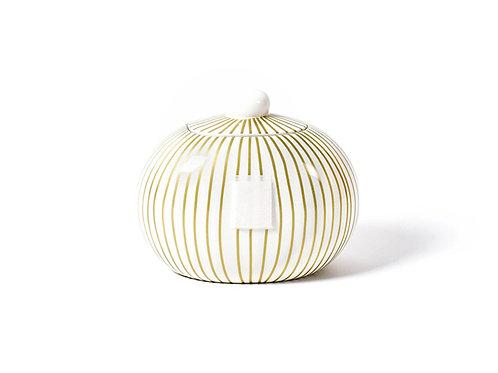 Coton Colors Gold Stripe Mini Cookie Jar