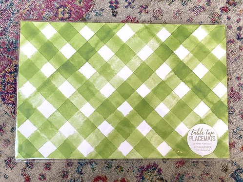 Green Check Paper Placemat (20pk)