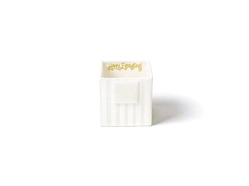 Coton Colors White Stripe Mini Nesting Cube