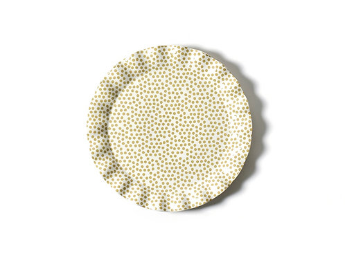 Coton Colors Small Dot Ruffle Round Platter