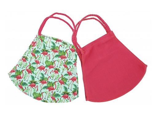 Pomchies mask set of 2- Flamingo