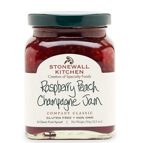 Raspberry Peach Champagne Jam