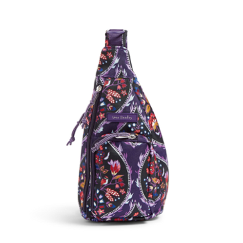 Vera Bradley Lighten Up Mini Sling Backpack - Foxwood Meadow