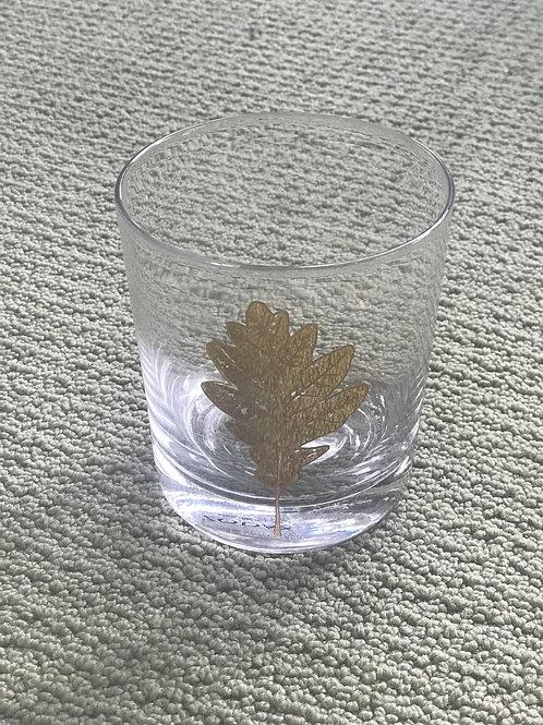 Zodax Short Beverage Glass- Leaf