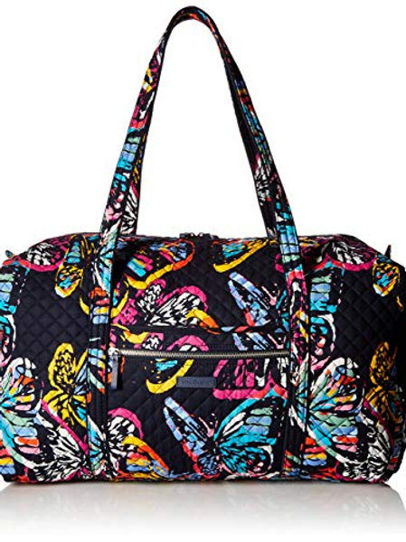 Iconic Large Travel Duffel Butterfly Flutter